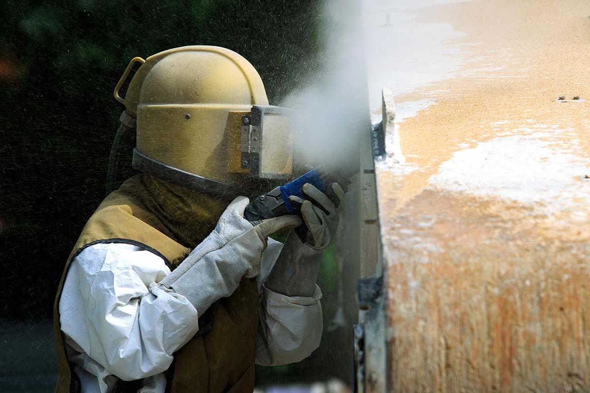 Media Blasting Service, Coal Slag Sandblasting - Trowin